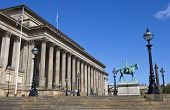 St. George's Hall, Prince Albert And Wellington's Column In Liverpool