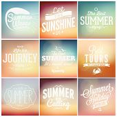picture of bon voyage  - Retro elements for Summer calligraphic designs  - JPG