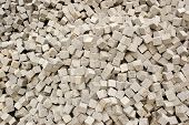 foto of pavestone  - The heap of stones for the pavement - JPG