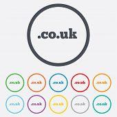 Domain CO.UK sign icon. UK internet subdomain