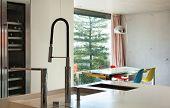 Modern house, interior, domestic kitchen