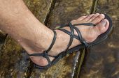 pic of wet feet  - Closeup of man - JPG