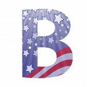 American Flag Letter B