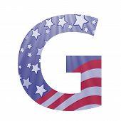 American Flag Letter G