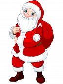 Illustration of Santa Claus who brought gifts