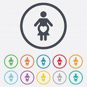 Pregnant sign icon. Pregnancy symbol.