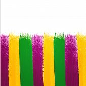 Vector Mardi Gras watercolor background