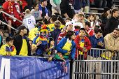 HARTFORD - OCTOBER 10:   Unidentified people  at U.S. Men`s International Friendly  vs Ecuador at Rentschler Field on October 10, 2014 in East Hartford,