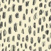 Doodles scrabble seamless pattern. Vector