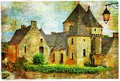 medieval castles of France, artistic picture