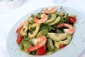 Plate With Shrimp And Avocado Salad