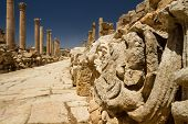 Main Road, Jerash, Jordan, Detail
