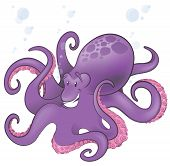Cute Octopus Character.
