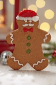 Christmas Decorations with Gingerbread cookie man
