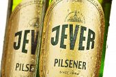 Bottle Of Jever Beer Isolated On White