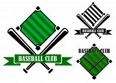 Baseball club emblems or badges