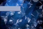 Abstract triangular blue background with polygonal abstract shap
