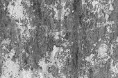 texture of rusty steel in black and white
