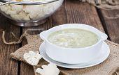 Cauliflower Soup In A Bowl