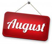 next august warm summer vacation month