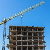 Building Crane On Construction