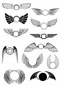 Heraldic wings set