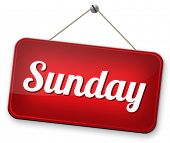 sunday next day schedule concept for appointment or event in agenda