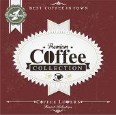 Retro Brown Vintage Coffee Background