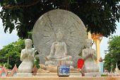 Buddha stone carving at wat Ratbumrungwanaram