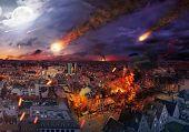 Fire disaster of an european town
