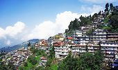 stock photo of darjeeling  - Darjeeling is a town in the Indian state of West Bengal located in the Mahabharat Range - JPG