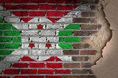 Dark Brick Wall With Plaster - Burundi