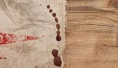 Texture of the burlap and old wood