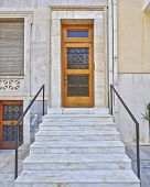vintage house door, downtown Athens, Greece