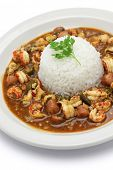 image of crawfish  - gumbo with crawfish - JPG