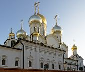 Golden Domes And Crosses Of The Conception Convent In Moscow