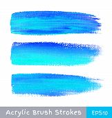 Colorful watercolor brush strokes on canvas
