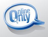 Online only shiny speech bubble.