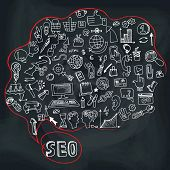 pic of drow  - Doodle hand draw circle composition sketchy seo  icons in Speak bubble - JPG