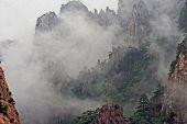 Huang Shan Mountains Hidden In Mist, Oil Paint Stylization