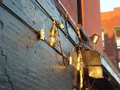 Old latterns in East Village