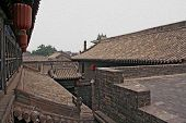 Roofs Of Pingyao Ancient Town, Oil Paint Stylization