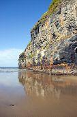Giant Cliffs Of Ballybunion On The Wild Atlantic Way