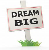 White Banner With Dream Big