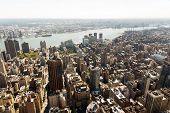 aerial view of new york city manhattan skyline