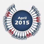 Vector calendar 2015 April template