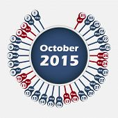 Vector calendar 2015 October template