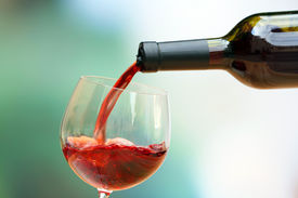 pic of bordeaux  - Red wine pouring into wine glass - JPG