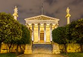 pic of socrates  - The main building of the Academy of Athens Greece - JPG