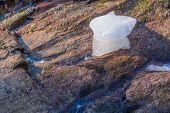 Ice left on rocks